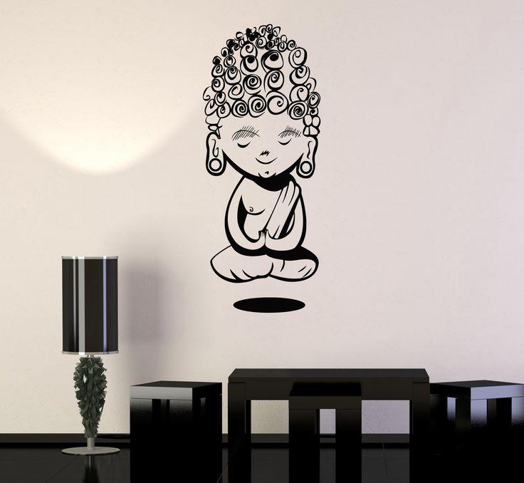 Vinyl Wall Decal Child Buddha Meditation Buddhism Yoga Stickers (278ig)