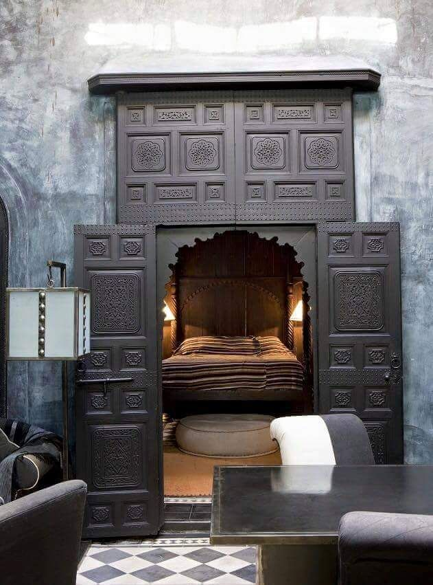 Hidden Gothic Bedroom Check us out on Fb- Unique Intuitions #uniqueintuitions #gothic #bedroom