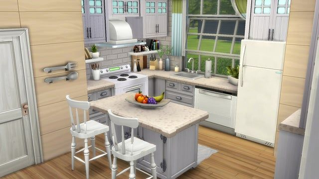 Love A Small Kitchen Sims4 In 2021 Sims House Design Sims 4 Kitchen Sims 4 House Design