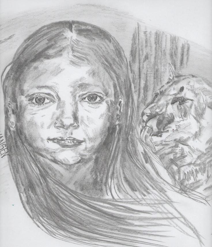 Dreaming Native girl.