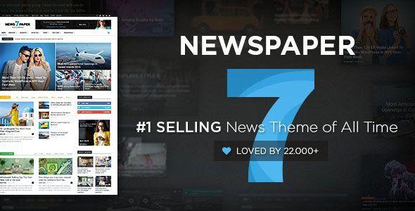 Share theme wordpress Newspaper v75 The Newspaper template is - online newspaper template
