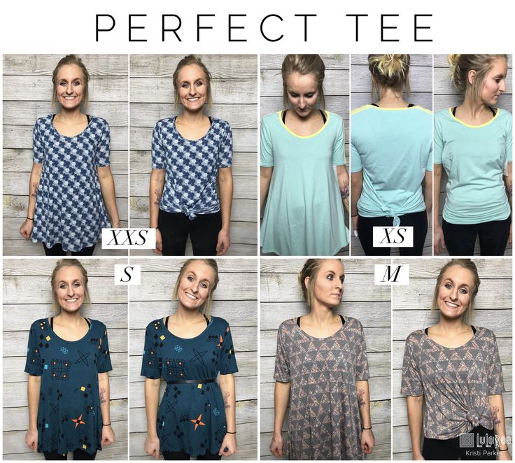 LuLaRoe Perfect Tee Sizing  So easy to wear several sizes in the Perfect Tee and style it so many ways!
