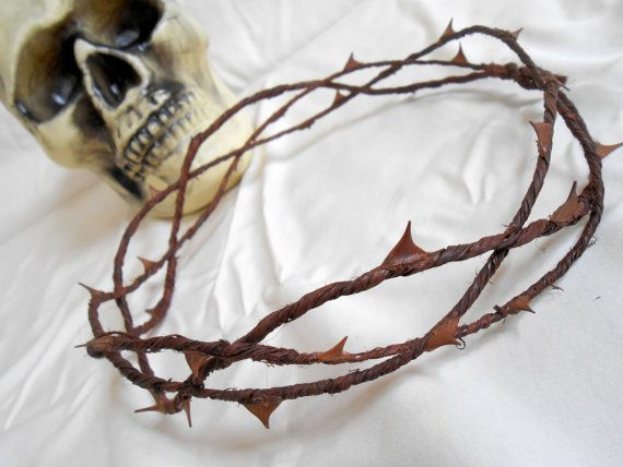 Crown of Thorns Goth Headpiece Biblical Costume Jesus Thorn Crown Gothic Spike Headband Halo Adult Halloween Easter Pageant Vine Circlet