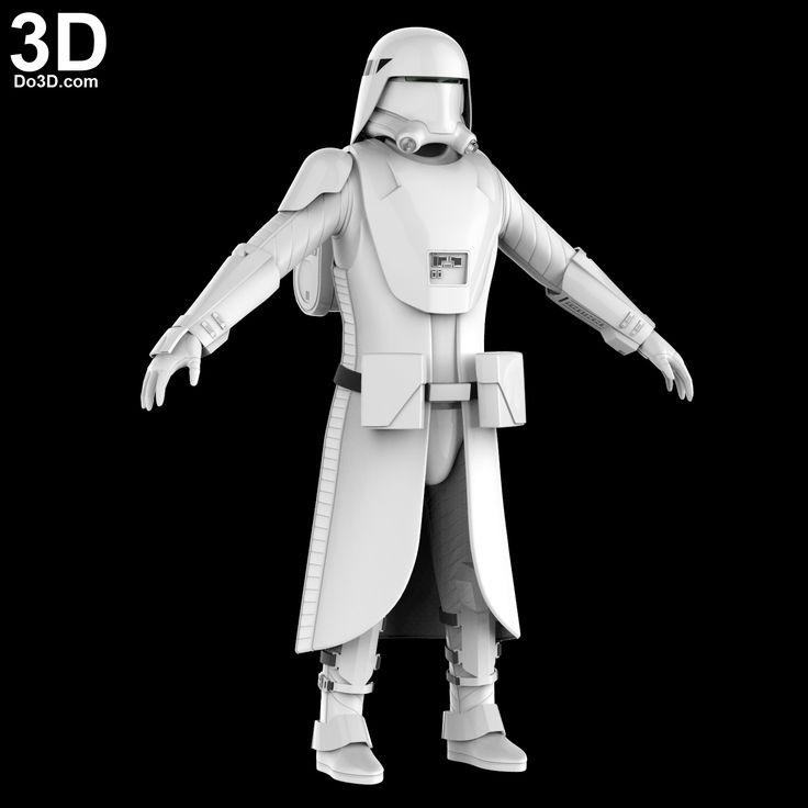 3D Printable Model: Star Wars Snowtrooper Costume (Full Body Armor Suit and Helmet) | Print File Format: STL – Do3D.com