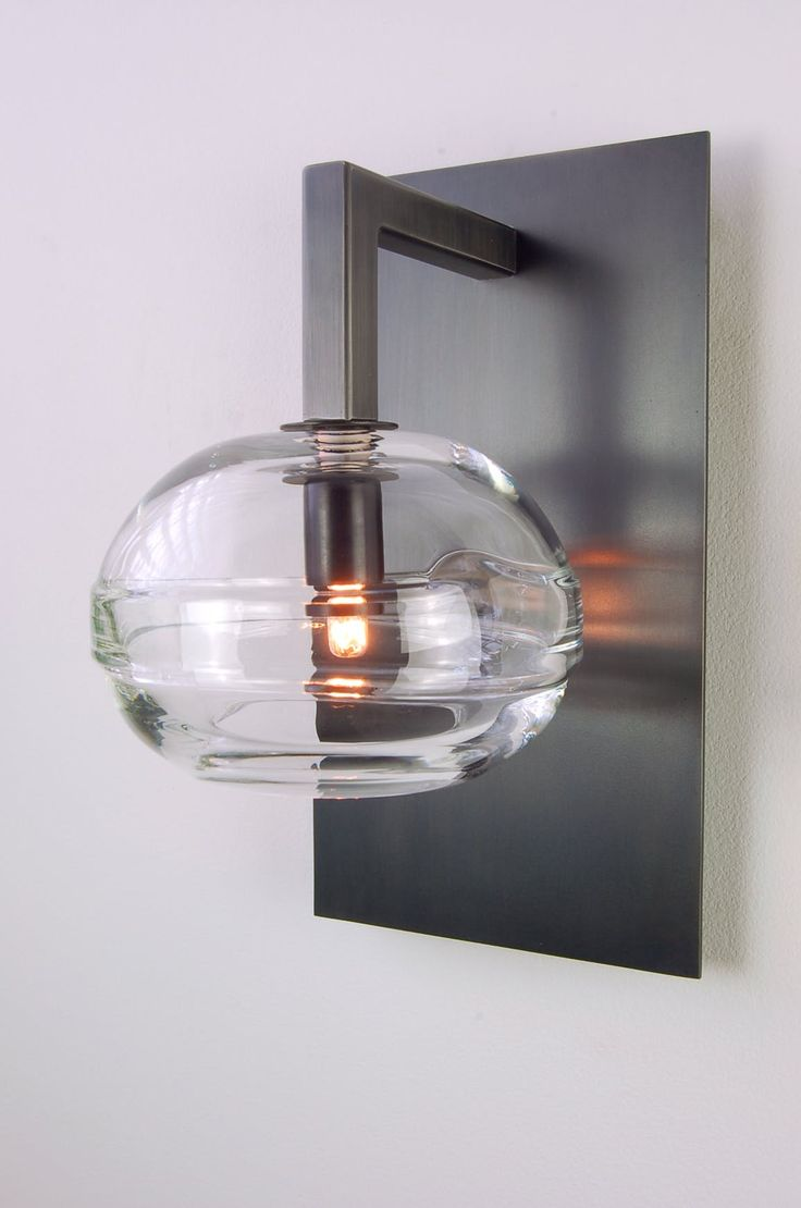 Chloe loft industrial 2 light oil rubbed bronze wall sconce free - Buy Clear Band Sconce By John Pomp Studios Made To Order Designer Lighting From Dering Hall S Collection Of Industrial Contemporary Transitional Wall