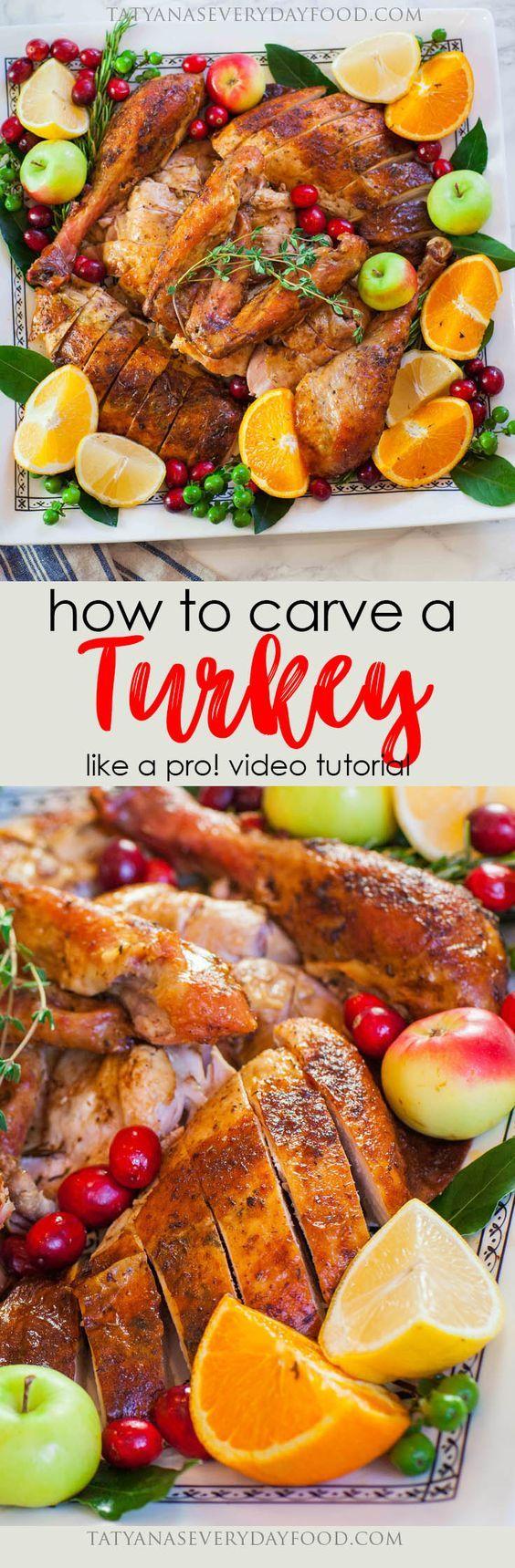 How To Carve A Turkey Like a Pro! - Tatyanas Everyday Food