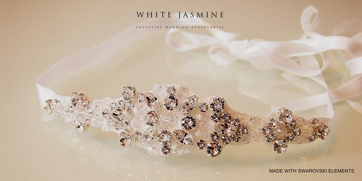 Headband with SWAROVSKI ELEMENTS designed and handmade by WhiteJasmine.pl