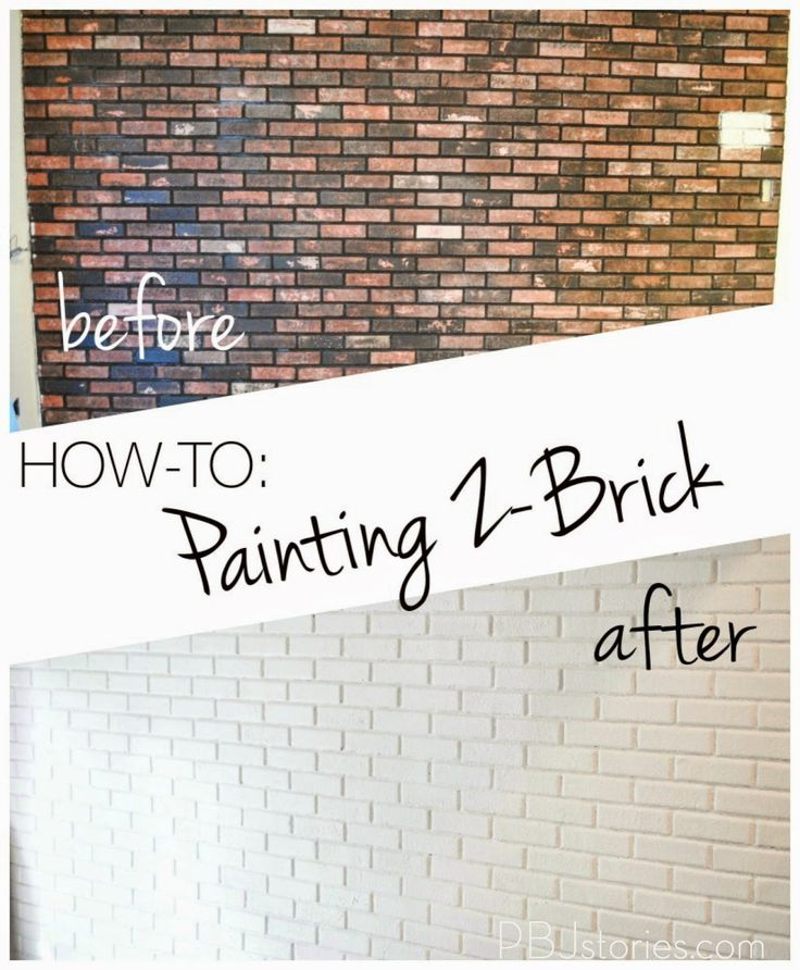 How to Paint an Interior Brick Wall | PBJstories.com ...