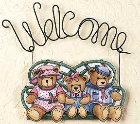 Набор для вышивания Dimensions 72362 Bear Welcome Мишкино приглашение