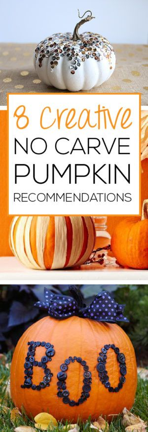 Don't want the mess of carving? Check out these cute ideas for festive pumpkins without the mess!