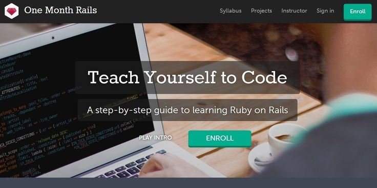 Learn to code in a month - One Month Rails -- http://onemonthrails.com/