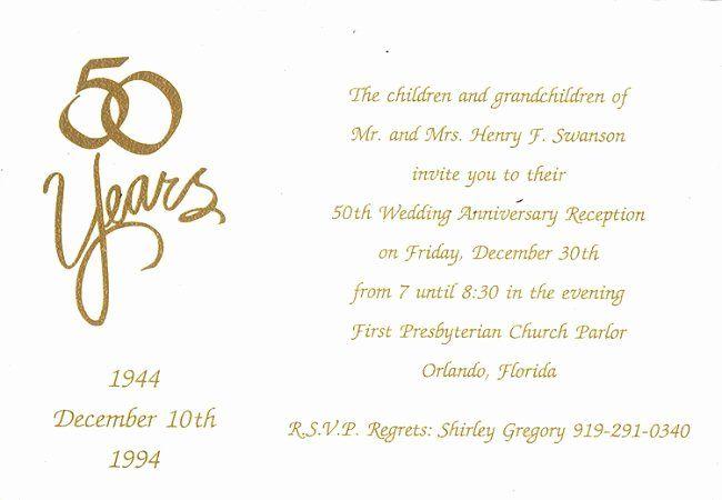 50th Wedding Anniversary Invitation Template Fresh Homemade 50t 50th Anniversary Invitations 50th Wedding Anniversary Invitations Anniversary Party Invitations