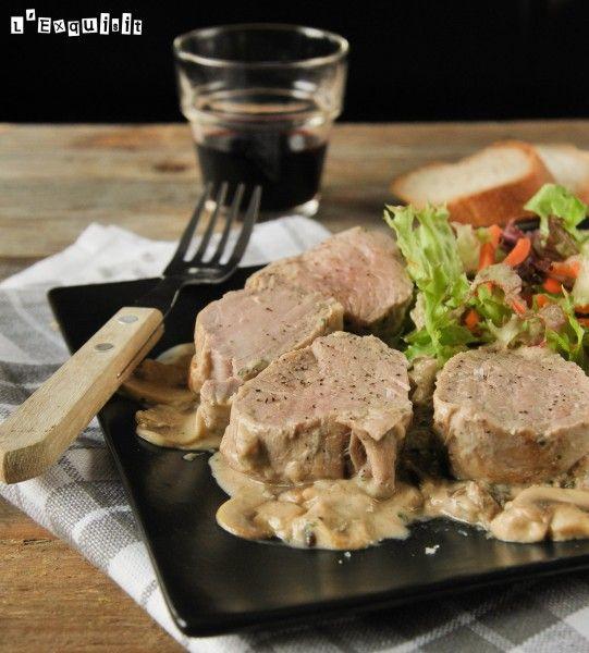 Solomillo con salsa de mostaza y champiñones - L'Exquisit