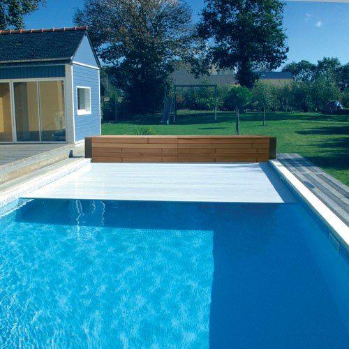 Роллет наматывающий бассейна для жалюзи RollBanc IPE 7x9,5 м Del Франция