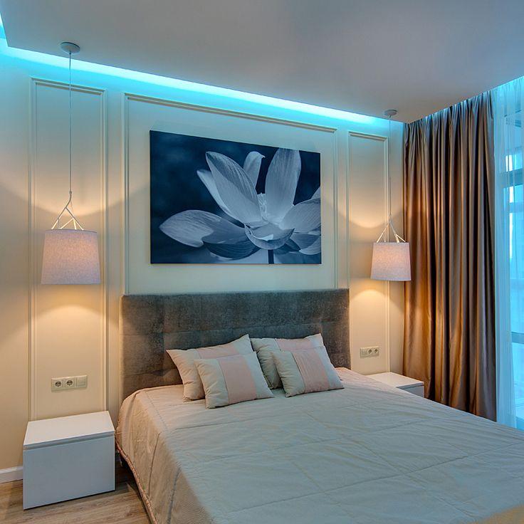 Черно-белая картина над кроватью, цветок, печать на холсте http://vramke.com.ua 096 010 24 92 Печать на холсте, рамы для картин.