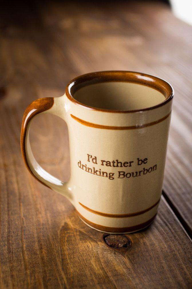 I D Rather Be Drinking Bourbon Coffee Mug On