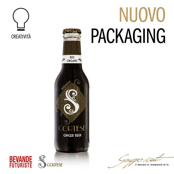 Nuovo #packaging per la Ginger Beer biologica di Bevande Futuriste, il prodotto a marchio SCORTESE presentato dall'azienda trevigiana a dicembre 2016. #gruppoicat