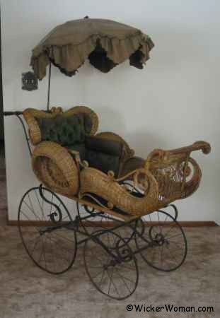 wicker-perambulator for the baby who digs steam!