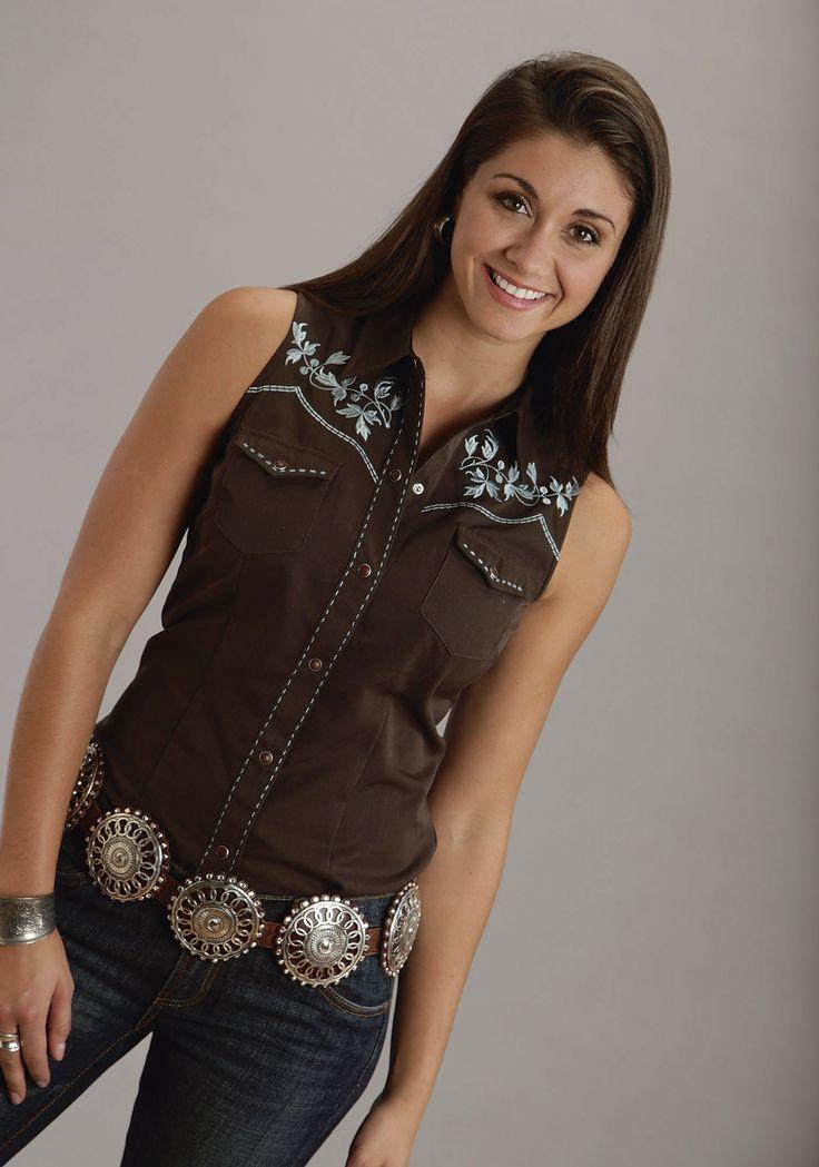 Womens Sleeveless Shirts With Collar
