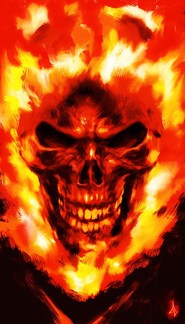 Ghost Rider Sketch by Atzinaghy on deviantART http://rahzzah.deviantart.com/art/Ghost-Rider-Sketch-272940832