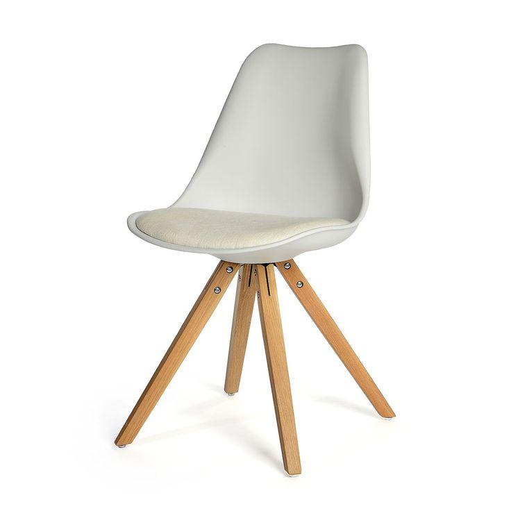 Stuhl 2 Stück Eiche weiß ca L:53 x B:49 x H:83 cm
