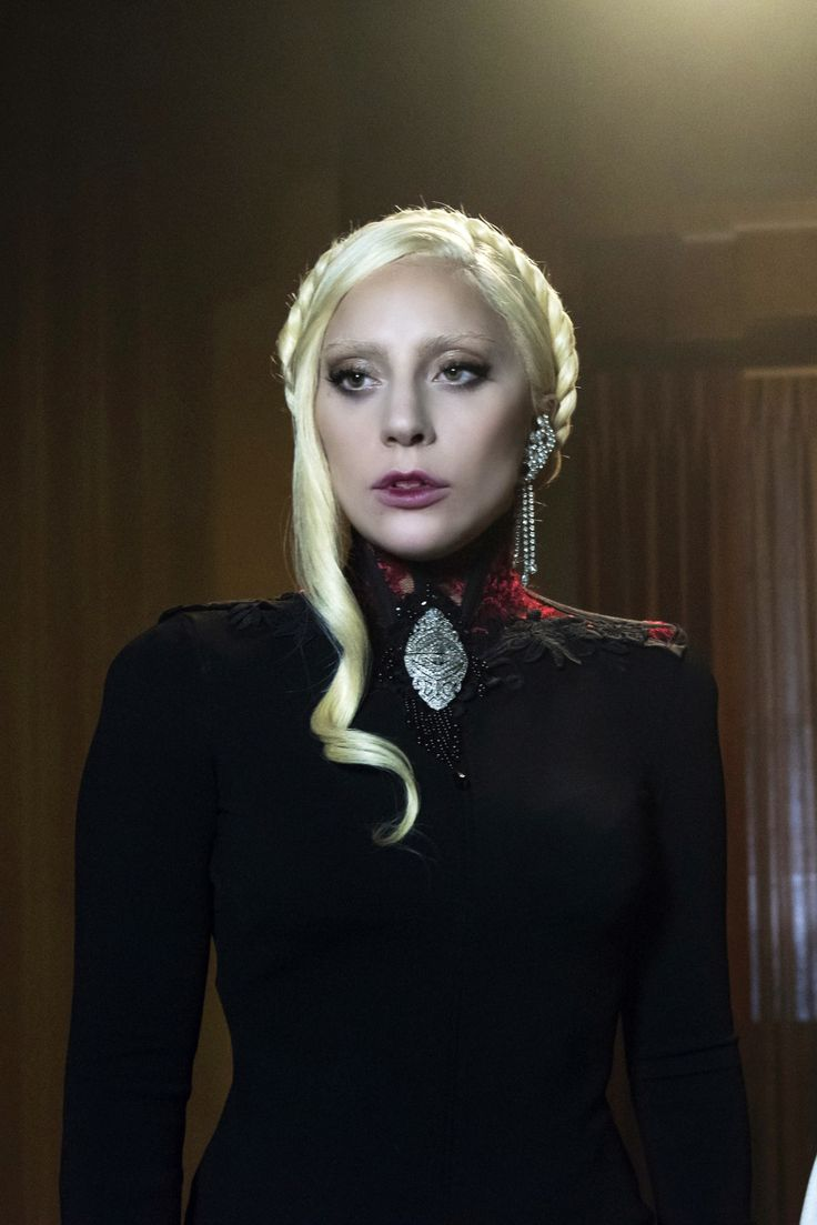Mother Monster  Screen shot of Lady Gaga in my Forge Fashion  'Victorian Lace Collar' for American Horror Story HOTEL