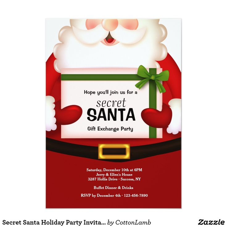 Best 25+ Secret santa invitation ideas on Pinterest | Secret santa ...