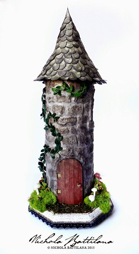 Upcycled Rapunzel Tower - Nichola Battilana. Pringles can, eggbox tiled walls ☺