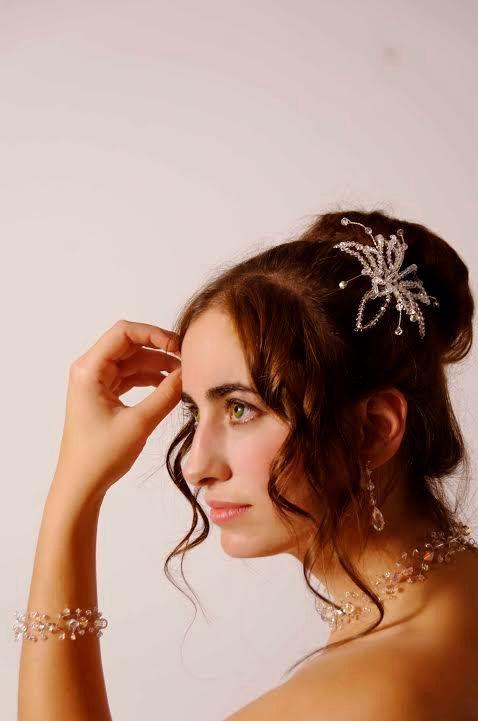 Bridal Hairflower Bridal Hair Jewelry Wedding by glamourbysonja