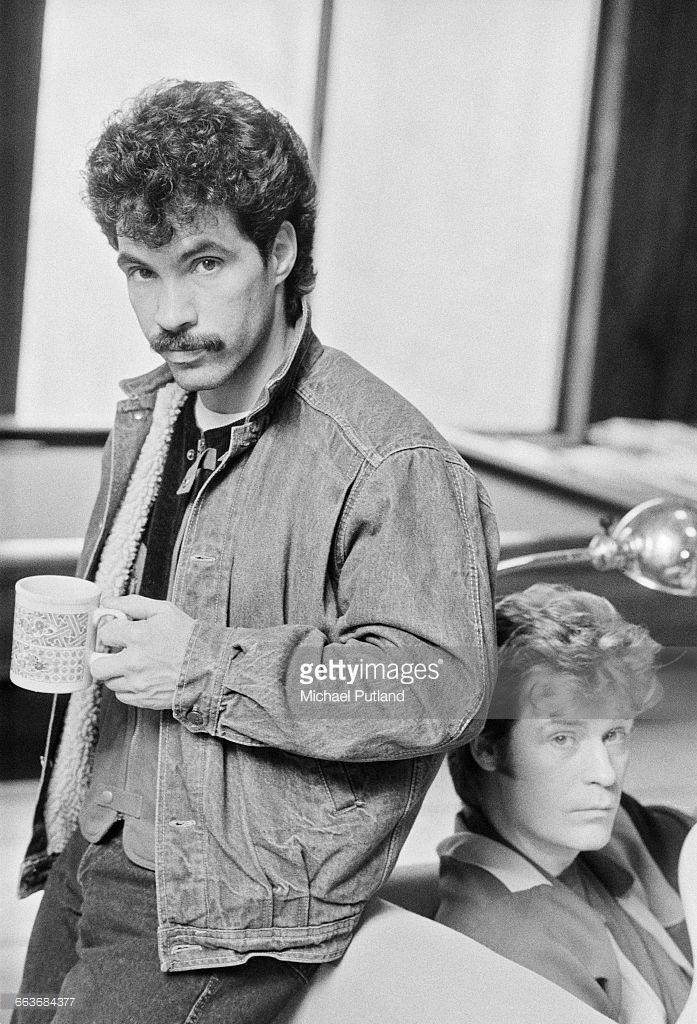 John Oates (left) and Daryl Hall of American pop duo Hall and Oates, Upstate New York, February 1983. Love this picture!