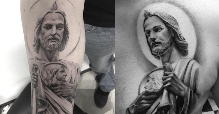 Completa colección de fotos de tatuajes de San Judas Tadeo, sus significados y completa información sobre su historia y celebraciones.