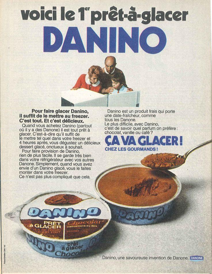Danino, le prêt-à-glacer de Danone - Modes de Paris, décembre 1970
