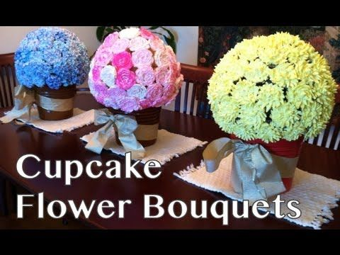 I absolutely LOVE this idea!!    In this video Anh creates cupcake flower bouquets for a special party.  She creates 3 bouquets: hydrangea, roses, and chrysanthemums.  This video only includes instructions for making the roses and chrysanthemums.  The hydrangea instructions are in a separate video.  See the links below.    Anh's Cooking Blog:  http://www.cookingwithanh.com    Anh's ...