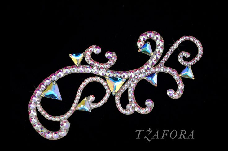 """Erika"" - Dancesport accessories. Ballroom hair accessory and ballroom jewelry made with Swarovski, available at www.tzafora.com © 2016 Tzafora. Handmade in Canada."