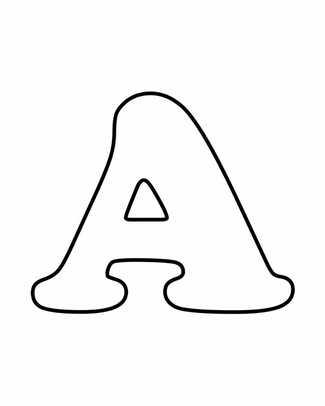 Letter a free printable coloring pages
