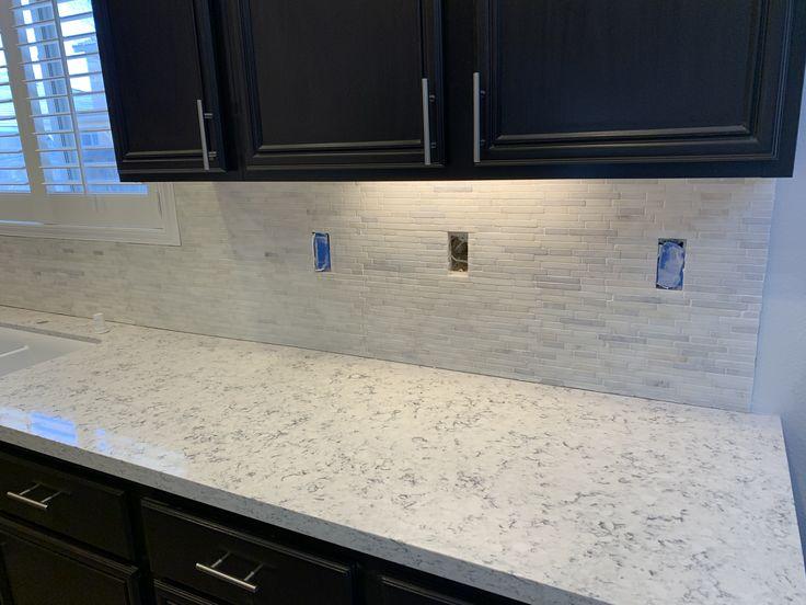 Allen Roth Cosmic Vapor Quartz Kitchen Countertop Sample