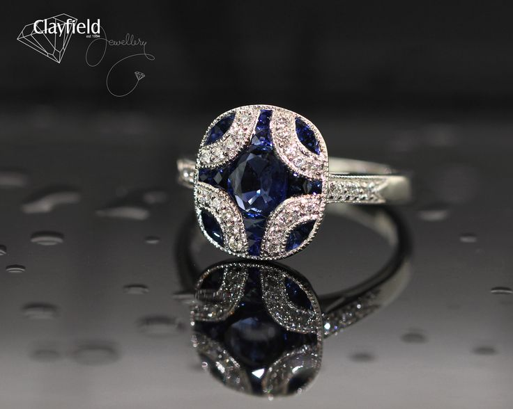 Sapphire and diamond ring, by Clayfield Jewellery in Nundah Village North Brisbane
