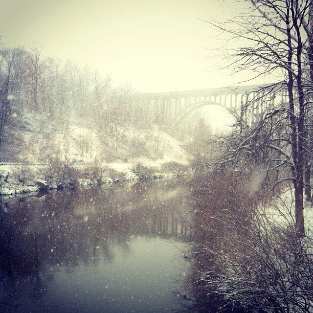 Cuyahoga Valley National Park, Brecksville, Ohio - winter snow storm