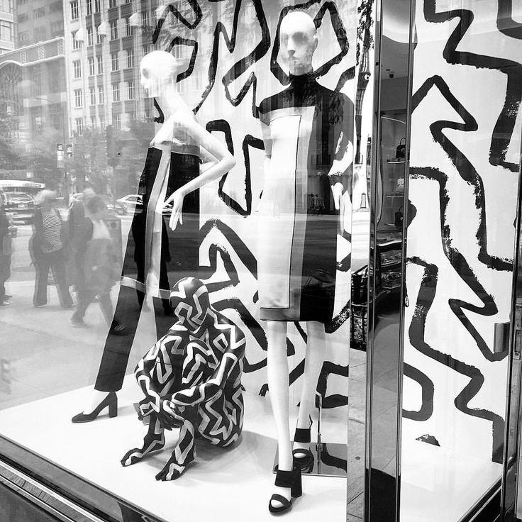"SALVATORE FERRAGAMO, Michigan Avenue, Chicago, Illinois, ""Black and White Delight"", photo by Kristin, pinned by Ton van der Veer"