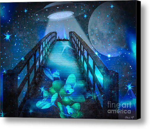 The Visit Canvas Print by Eleni Mac Synodinos