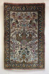 Qum 100% silk carpet 1.26M x 0.8M