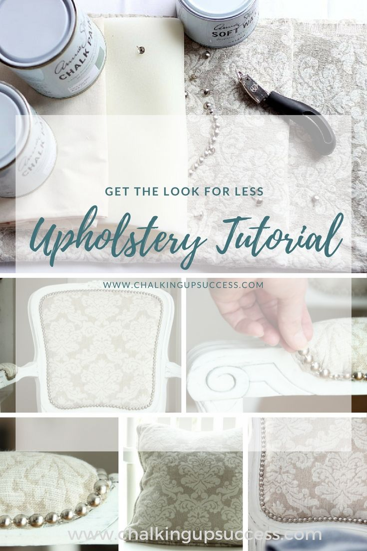 It's always great to see old furniture being up-dated and put to good use instead of  it ending up on the scrap heap!  Annie Sloan Chalk Paint makes this easy to follow tutorial for painting and upholstering so quick & easy! #anniesloanchalkpaint #chalkpaint #furnituremakeover #frenchstylechair #upholstering #upholsterytutorial  #paintedfurniture #beforeandafter #furniturebeforeandafter #howtoupholsterachair