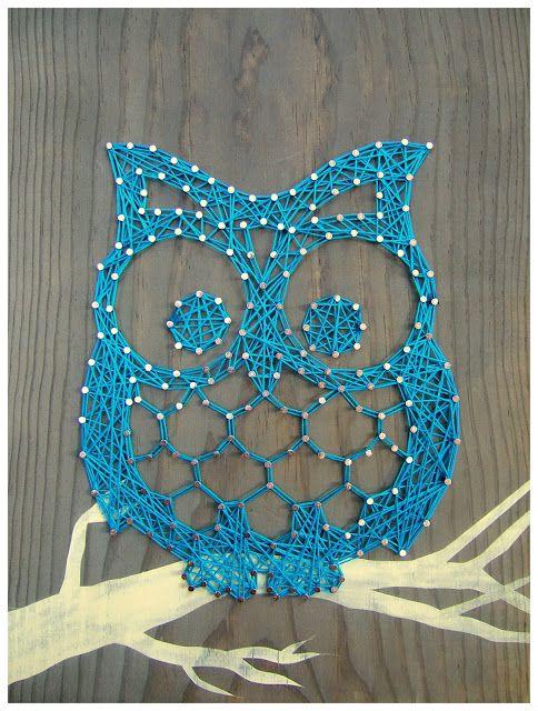 string name art   String Art: Otis the Owl