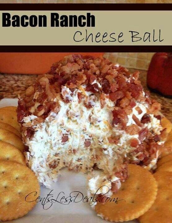 Bacon ranch cheese ball! !