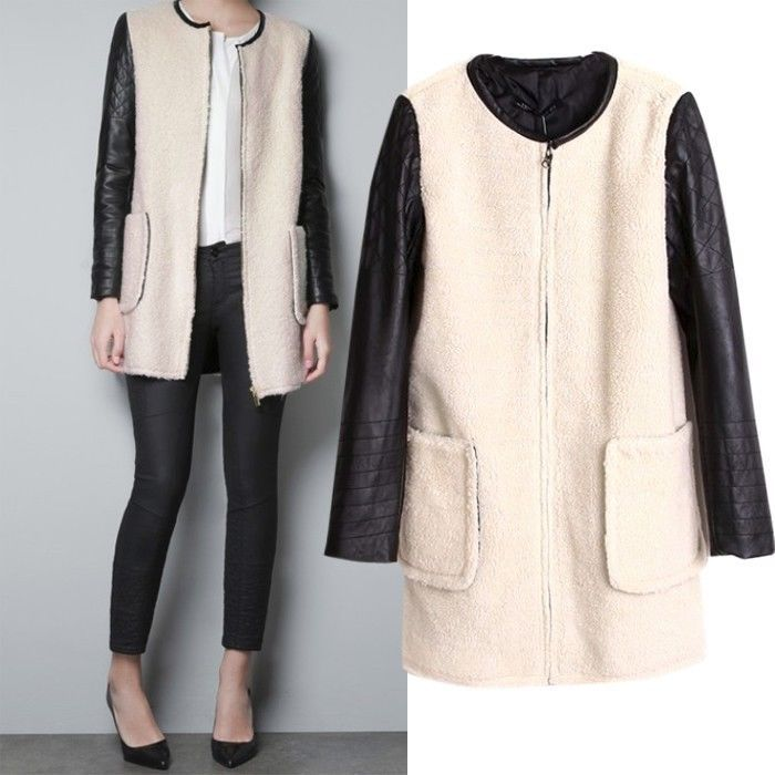 Faux Fur Pleather Jacket - $55.95 with FREE shipping