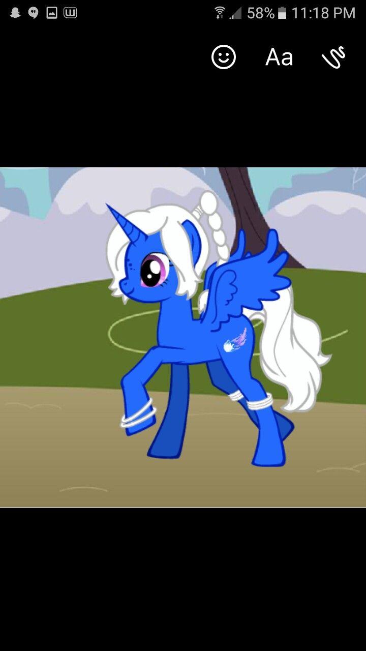My own Oc made on mlp creator.  Alicorn Name~ Princess Asteria      Princess of an ancient tribe CutieMark- A purple/white/blue comet~ (Goddess) of stars  ~Kawaii