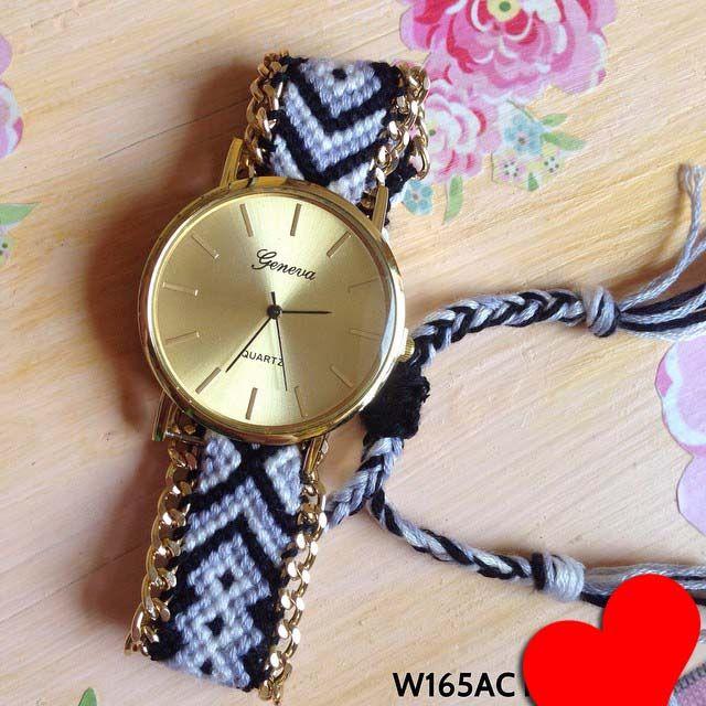 Jam tangan Geneva knit Kode barang : W165AC ||  Harga 105ribu ||  Diameter : 3.8 cm'an ||  Tali : knit ||  Water resistant: tidak
