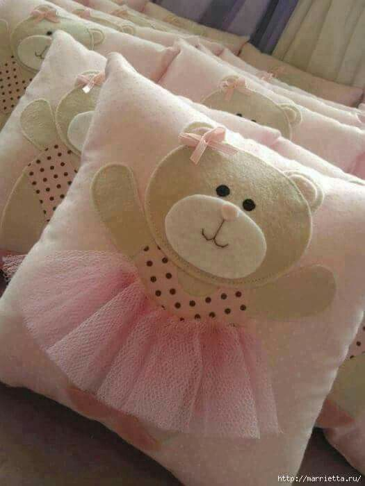 Bear balet pillow