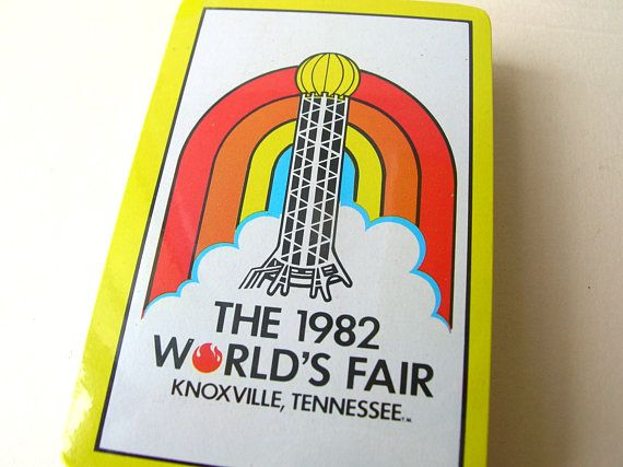 1982 Tennessee Worlds Fair Souvenir Playing Cards - Unopened Vintage Deck of Cards - British Hong Kong by BohemianGypsyCaravan