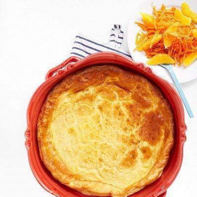 Bild på Ugnspannkaka med morot- och apelsinsallad